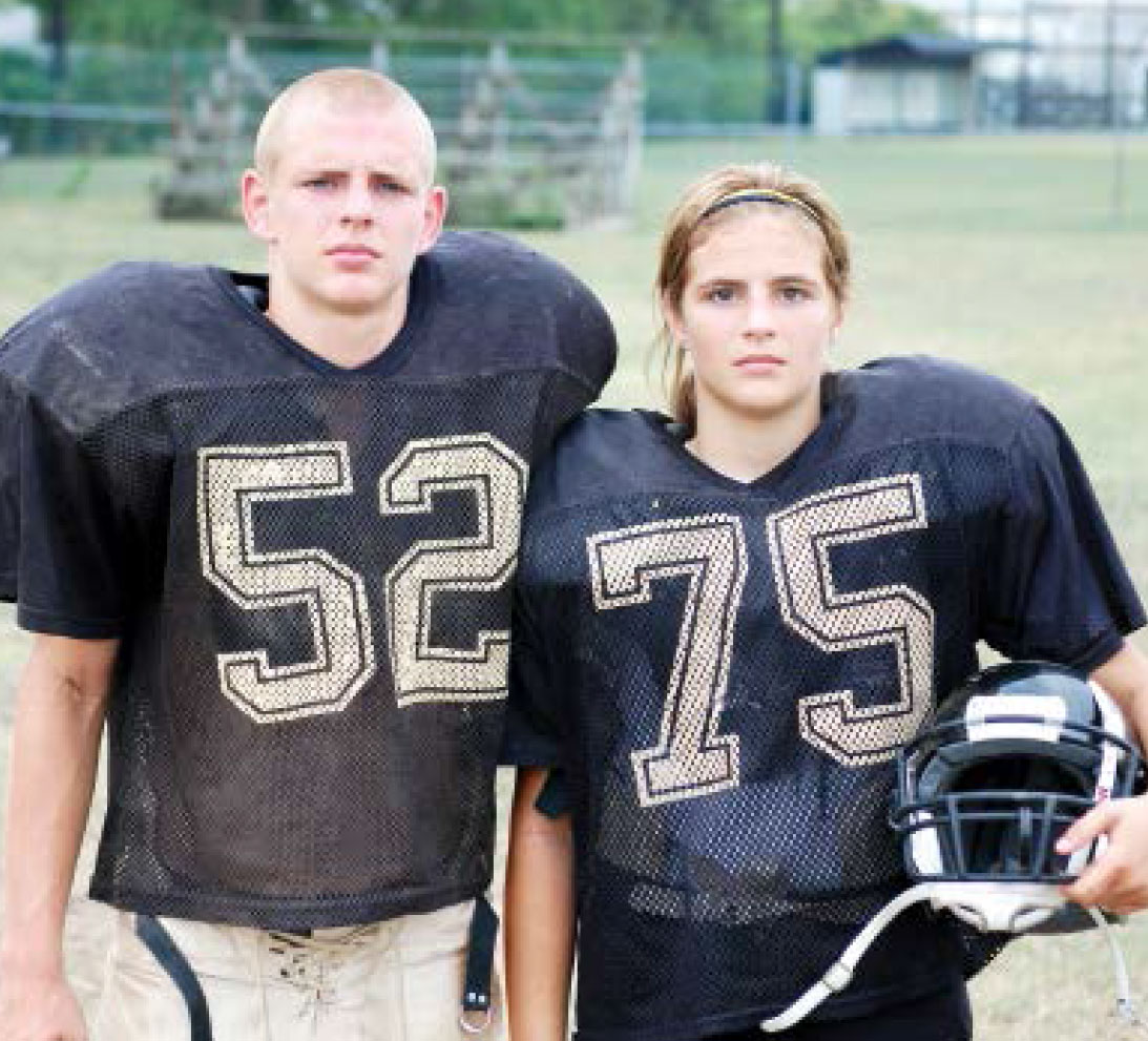 Female football player tries out for all-boys high school ...