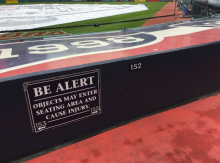 The Cleveland Indians have taken steps to improving fan safety by extending its net and creating more signs at Progressive Field. (Nathaniel Cline, cleveland.com)