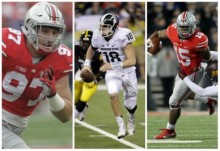 See a list of the 15 best prospects from Big Ten Conference for the 2016 NFL Draft. Pictured from left Ohio State's Joey Bosa, Michigan State's Connor Cook and Ezekiel Elliott from Ohio State. (Photos courtesy of the The Plain Dealer and Associated Press)